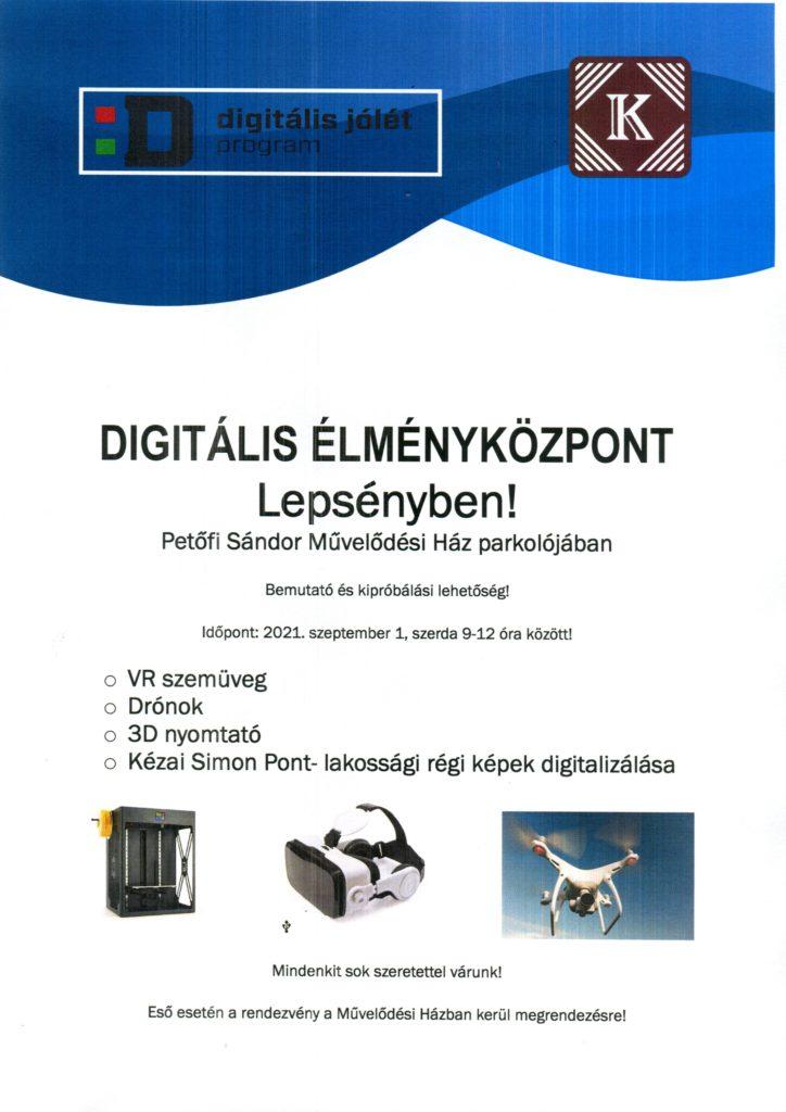 Digitális Élménybusz Lepsényben!